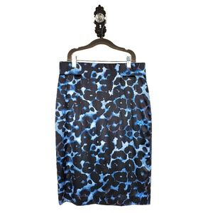 ANN  TAYLOR | Silk Stretch Leopard Pencil Skirt 4
